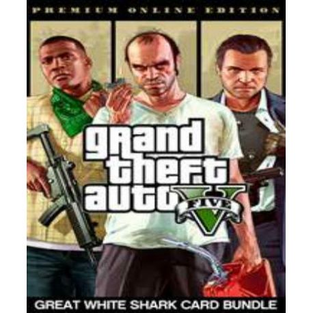 Grand Theft Auto V GTA 5 - Premium Online Edition & Great White Shark Card Bundle