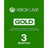 Xbox Live Gold 3 month (EU)