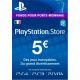PlayStation Network Card (PSN) €5 (France)