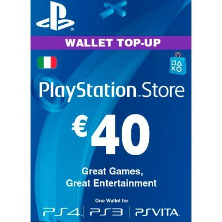 Playstation Network Card (PSN) €40 (Italy)